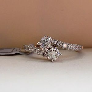 """Jewelry - 0.75 carat 14k """"forever us"""" diamond ring/certified"""